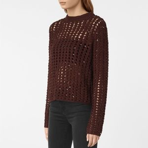 Allsaints Alyse embellished sweater size Medium